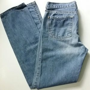 Old Navy Ultra Low Waist Bootcut Blue Jeans
